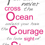 """You can never cross the ocean"" -Christopher Columbus-"